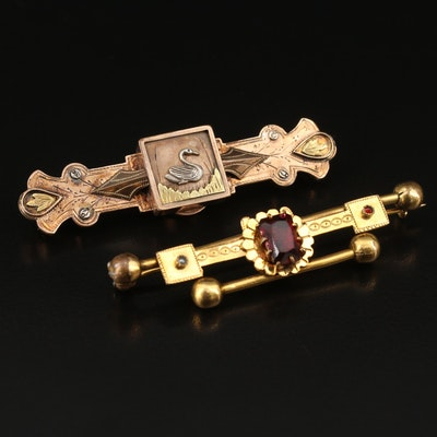 Victorian Bar Brooches