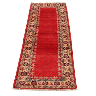 2'3 x 6'1 Hand-Knotted Afghan Persian Tabriz Carpet Runner, 2010s