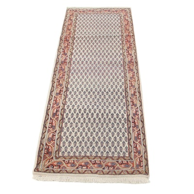 2'4 x 6'10 Hand-Knotted Indo-Persian Mir Carpet Runner, 2000s