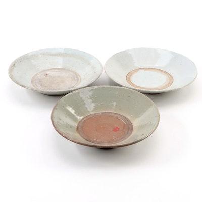 Chinese Celadon Ceramic Flared Rim Bowls, Antique