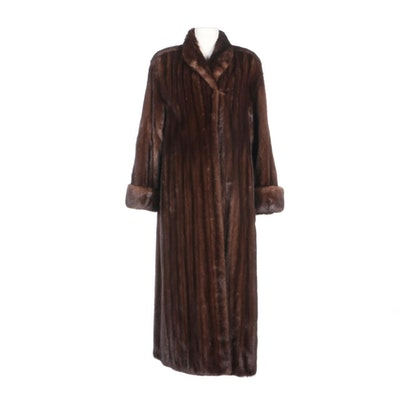 Mink Fur Full-Length Coat with Turned-Back Cuffs by Marks-LLoyds Furs of Denver