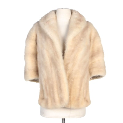 Mink Fur Stole for Marshall Field & Company with Union Made Fur Authority Label