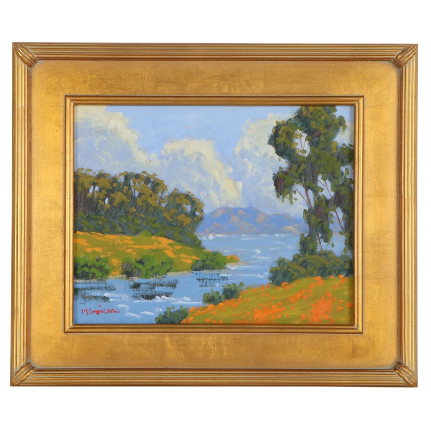"""Marc A. Graison Oil Painting """"Tranquil Lagoon,"""" 2020"""