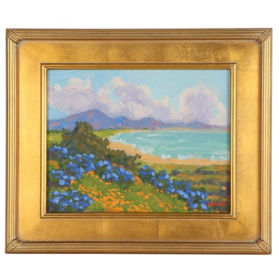 "Marc A. Graison Oil Painting ""Along the Coast,"" 2020"