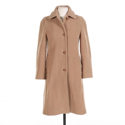 Burberry Button-Front Wool Coat