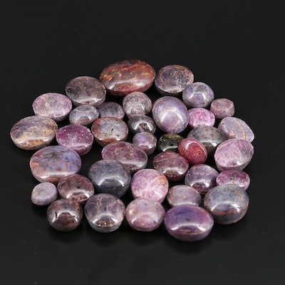 Loose Star Corundum and Corundum Oval Cabochon Gemstones