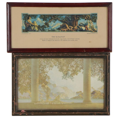 """Offset Lithographs after Maxfield Parrish """"Daybreak"""" and """"The Rubaiyat"""""""