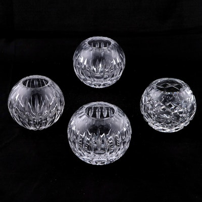Cut Crystal Round Votive Holders