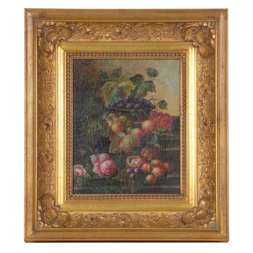 Oil Painting of Grape Still Life