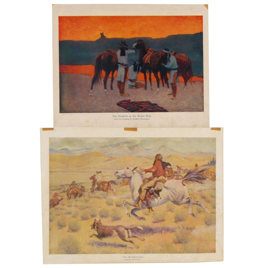 Offset Lithographs after Frederic Remington, 20th Century