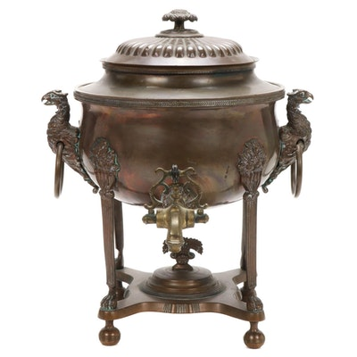 Copper Samovar with Claw Foot Details, 19th Century