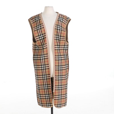 "Burberrys of London Coat Liner in ""Nova Check"" Wool"