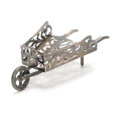 Meriden Brittania Co. Sterling Silver Wheelbarrow Figurine