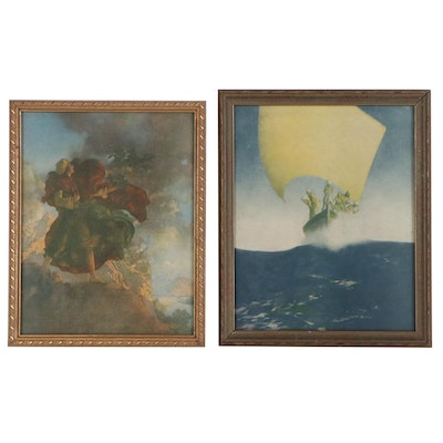 """Offset Lithographs after Maxfield Parrish featuring """"Prince Codadad"""""""