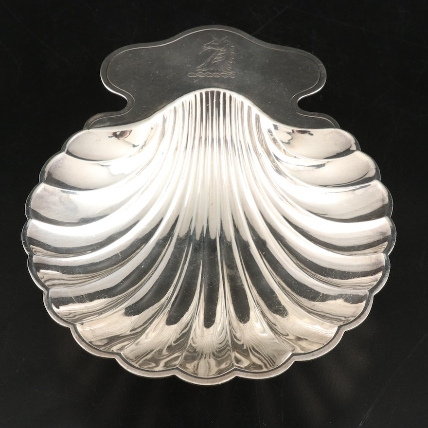 E. G. Webster & Son Silver Plate Shell Form Dish, Early to Mid-20th Century