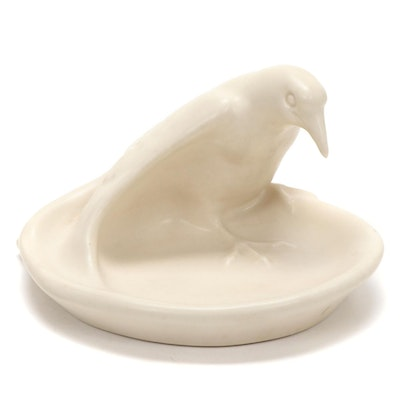 "Rookwood Pottery ""Rook"" Matte Glaze Ceramic Ashtray, 1965"