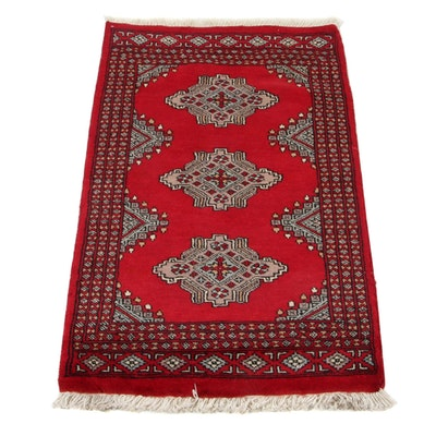 2'1 x 3'7 Hand-Knotted Pakistani Bokhara Accent Rug, 2010s
