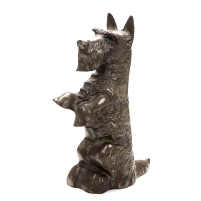 Cast Metal Scottish Terrier Door Stop