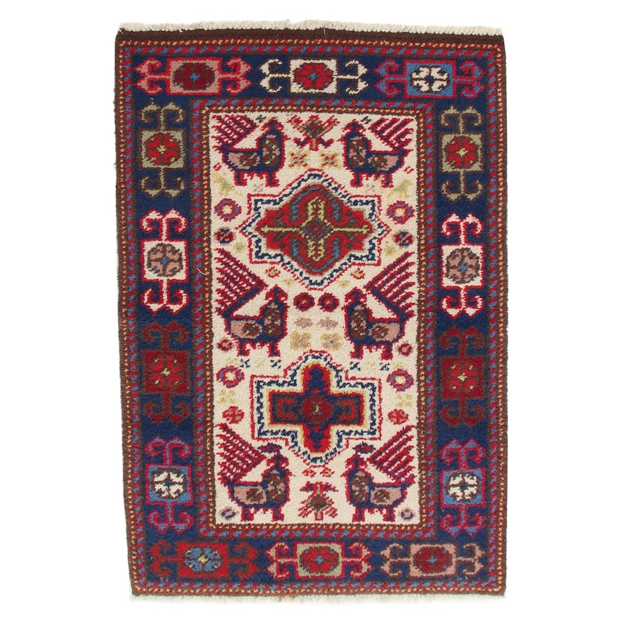 3'1 x 5'2 Hand-Knotted South Caucasian Akstafa Accent Rug, 1970s