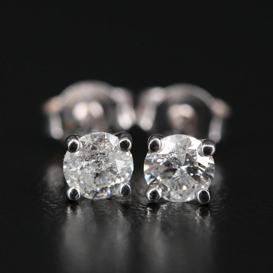 14K 0.64 CTW Diamond Martini Stud Earrings