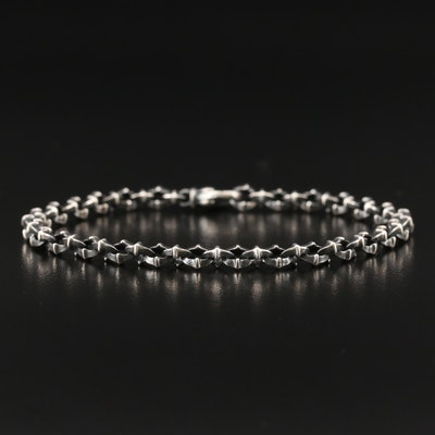 "David Yurman ""Armory"" Sterling Silver Bracelet"