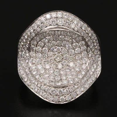 18K 2.91 CTW Diamond Pavé Ring