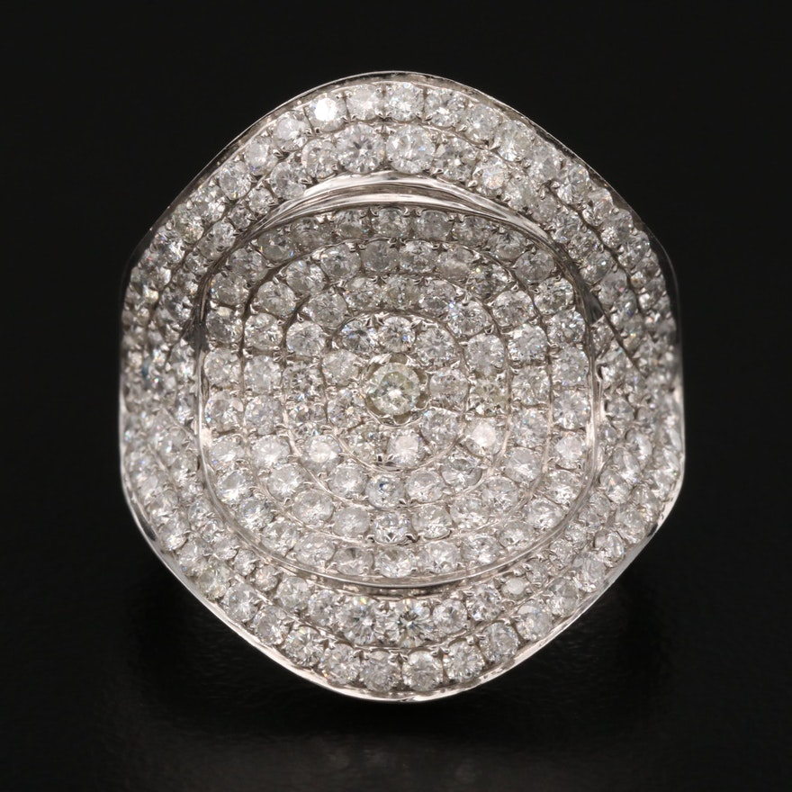 18K 2.91 CTW Diamond Pavé Ring