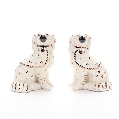 Kent Staffordshire Ware Spaniel Figurines, Mid-Late 20th Century