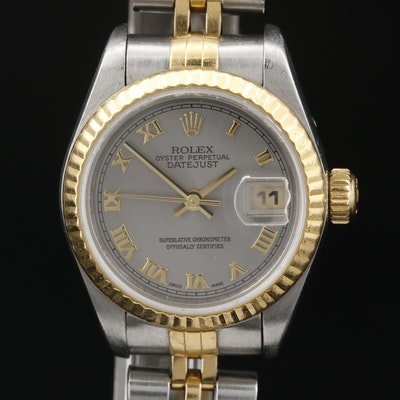 1996 Rolex Datejust 18K and Stainless Steel Automatic Wristwatch