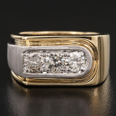 10K Two-Tone 1.25 CTW Diamond Ring