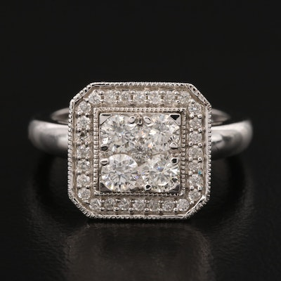 14K 1.04 CTW Diamond Ring