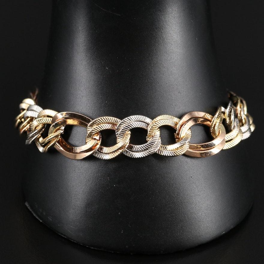 Double Curb Link Chain Bracelet