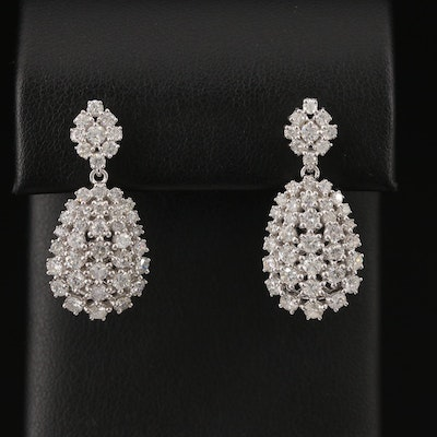 14K 3.24 CTW Diamond Drop Earrings