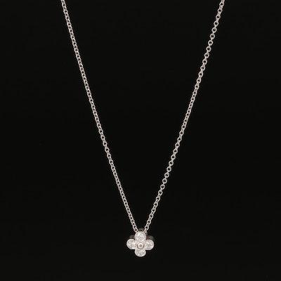 "Tiffany & Co. ""Lace"" Platinum Diamond Necklace"