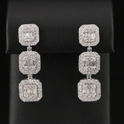 14K 3.51 CTW Diamond Drop Earrings
