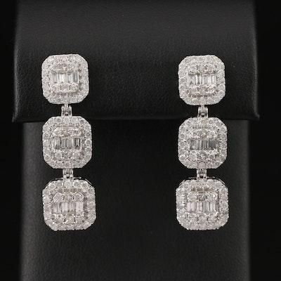 14K 3.51 CTW Diamond Drop Earrings
