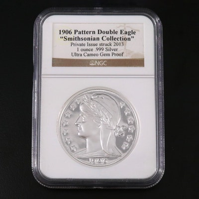 NGC Graded Ultra Cameo Proof 1906 Pattern Double Eagle