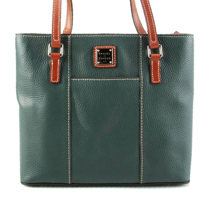 Dooney & Bourke Small Lexington Pebbled Leather Zip Shoulder Tote in Forest