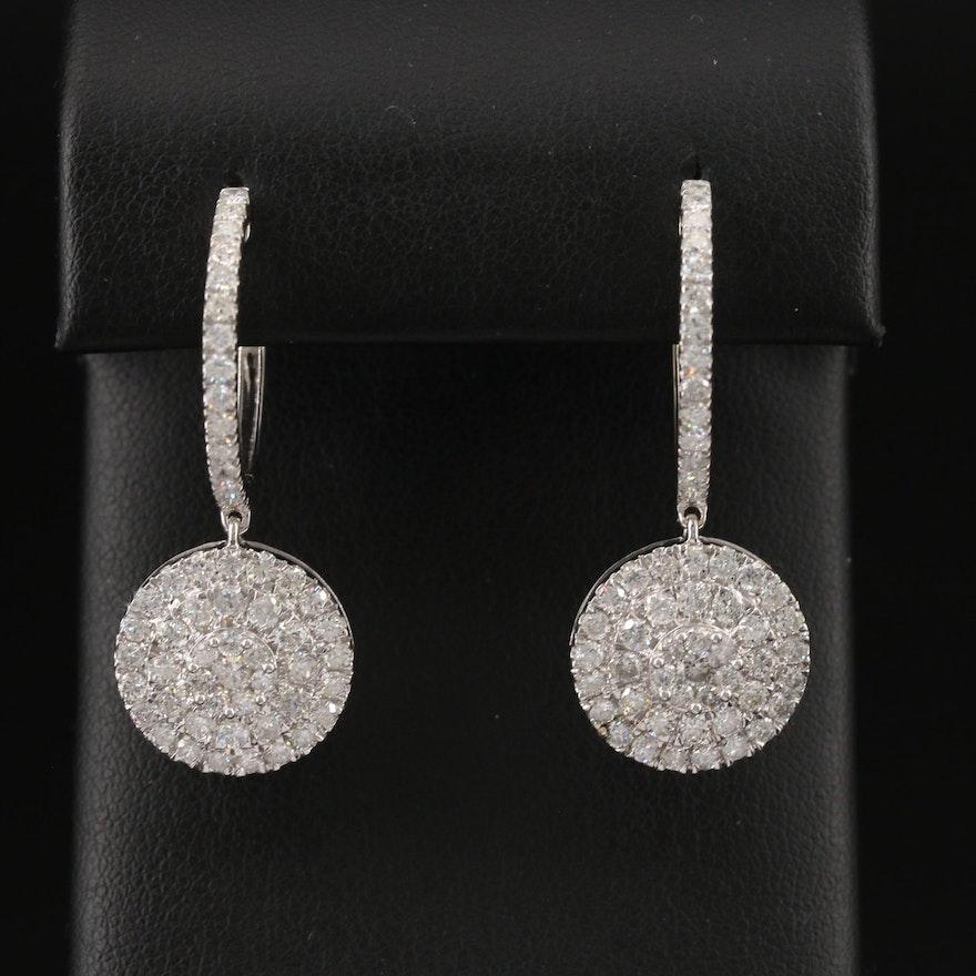 14K 3.03 CTW Diamond Earrings