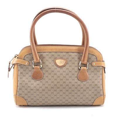 Gucci Handbag in Microguccissima Coated Canvas with Leather Trim