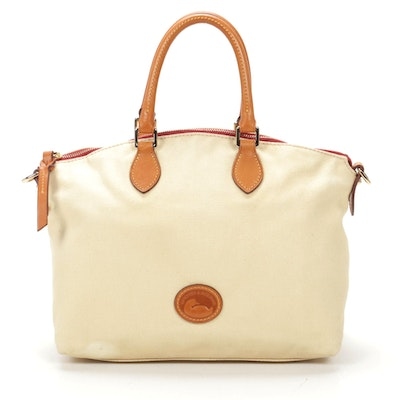 Dooney & Bourke Canvas and Leather Shoulder Bag