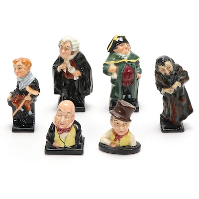 "Royal Doulton Porcelain Figurines featuring ""Tiny Tim"", ""Fagin"" and More"