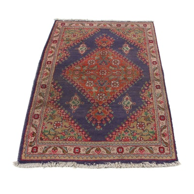 3'3 x 5' Hand-Knotted Persian Tabriz Accent Rug, 1970s