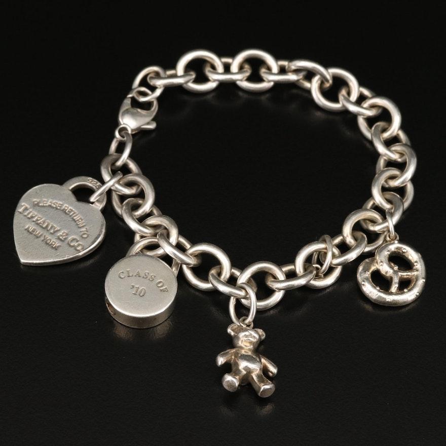 Tiffany & Co Sterling Charm Bracelet