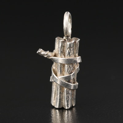 Sterling Silver Dynamite Charm