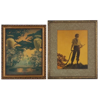 """Offset Lithograph after Maxfield Parrish featuring """"Harvest"""""""