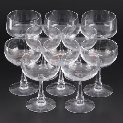 "Fostoria ""Glamour"" and Other Fostoria Champagne Glasses, Mid to Late 20th C."