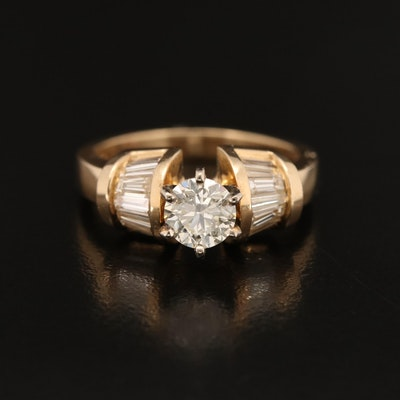 14K 1.34 CTW Diamond Ring