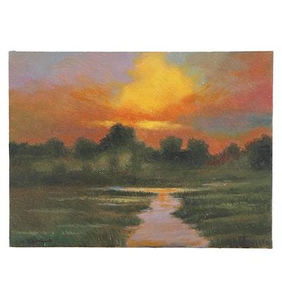 Sulmaz H. Radvand Landscape Oil Painting, 2020