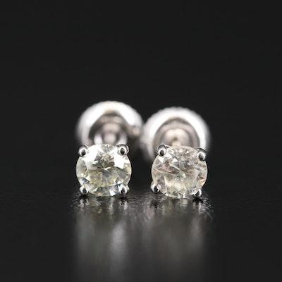 14K 0.85 CTW Diamond Martini Stud Earrings